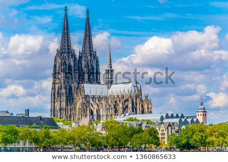Parfüm katedrális Németország este római katolikus Stock fotó © borisb17