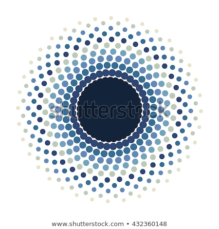 Blue Halftone Eye Stock photo © jamdesign