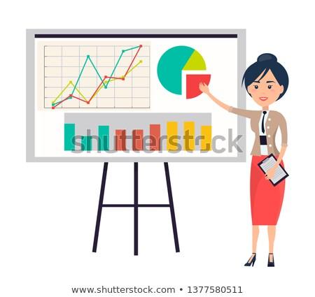 бизнеса · диаграммы · стоять · изолированный · иллюстрация · высокий - Сток-фото © robuart