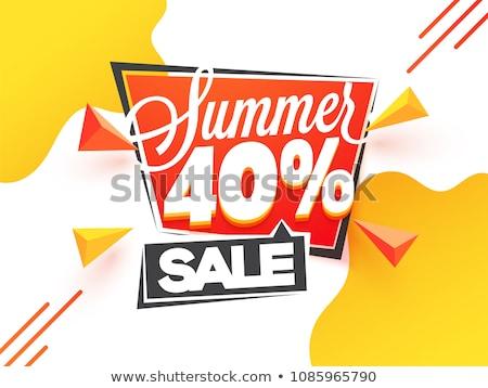 Elegáns nagy vásár promóciós szalag design sablon Stock fotó © SArts