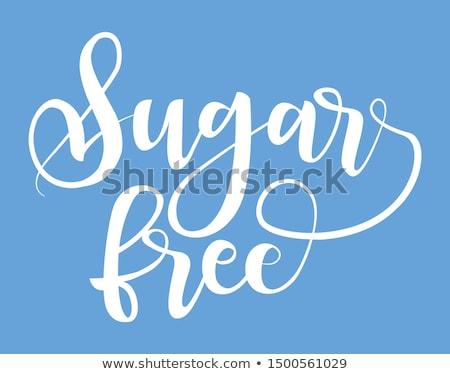 сахар свободный продукт Label черный почерк Сток-фото © MarySan