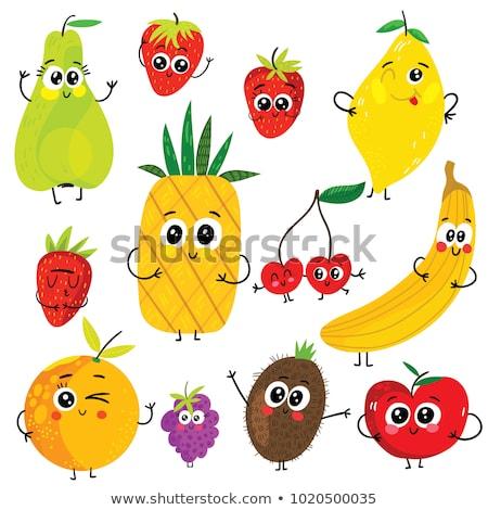 cartoon illustration set of strawberry stock photo © margolana