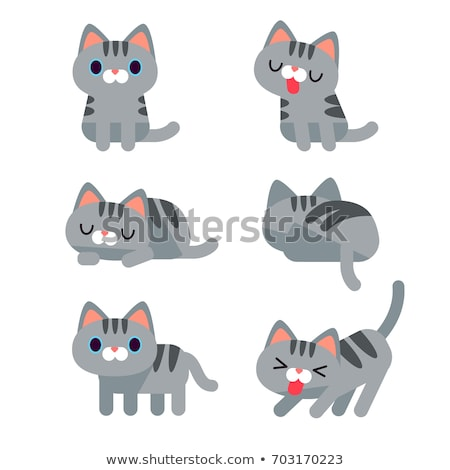 állat · firka · skicc · aranyos · macska · illusztráció - stock fotó © margolana