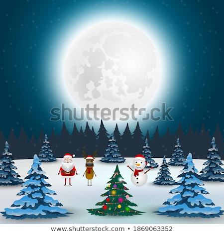 Illustration bonhomme de neige pants blanche neige Photo stock © brux