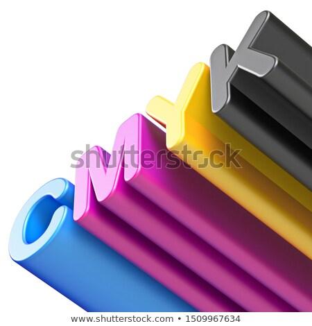 átló szöveg színek 3D 3d render illusztráció Stock fotó © djmilic
