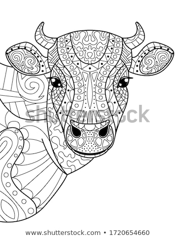 bull farm animal character coloring book Stock photo © izakowski