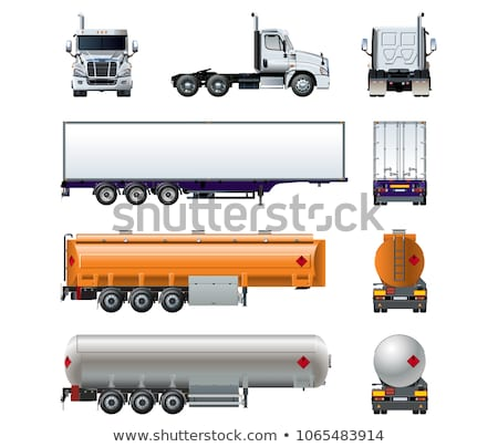 vector realistic tanker truck template isolated stock photo © mechanik