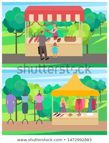 Printemps juste vêtements magasin parc personnes Photo stock © robuart