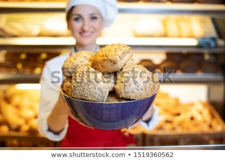 新鮮な · パン · 孤立した · キッチン · ベンチ - ストックフォト © kzenon