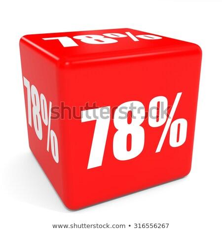Acht procent witte geïsoleerd 3D 3d illustration Stockfoto © ISerg