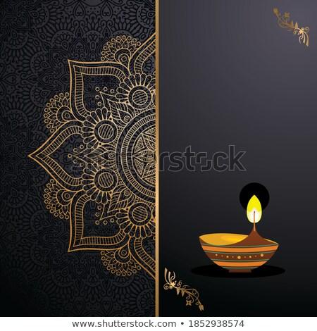 Reale design felice diwali festival luce Foto d'archivio © SArts