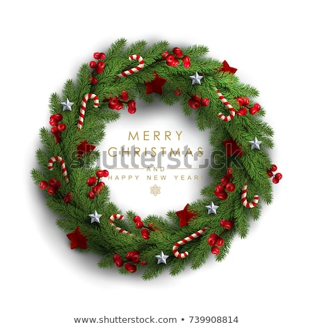 sneeuwvlok · krans · christmas · goud · snuisterij · decoraties - stockfoto © lightsource