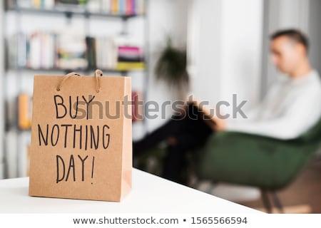 текста купить ничего день корзина Сток-фото © nito