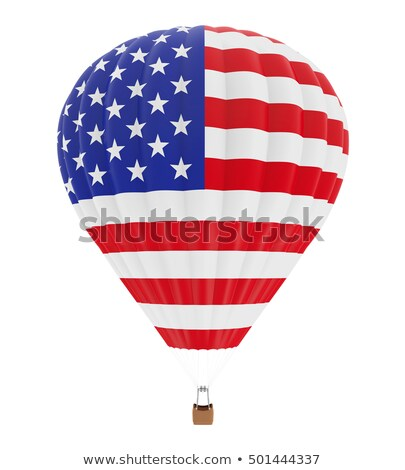 Helyum balonlar amerikan bayrağı beyaz Stok fotoğraf © olehsvetiukha