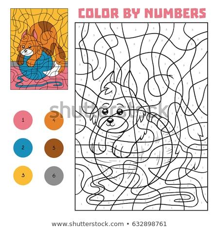 Kedi Boyama Kitabi Sayfa Siyah Beyaz Karikatur