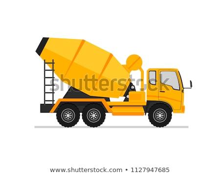 Engineering machine beton mixer auto vector Stockfoto © robuart