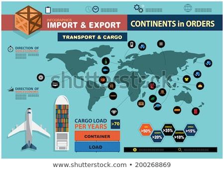 Ihracat ithal lojistik dünya çapında harita vektör Stok fotoğraf © robuart