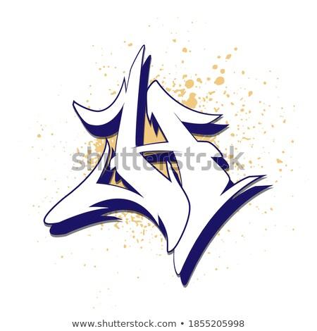 Vektör moda el poster kaligrafi Stok fotoğraf © wywenka