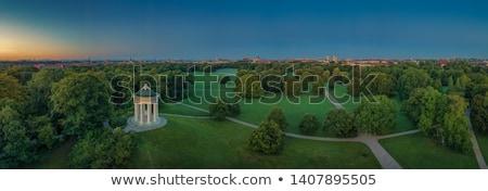 Tapınak İngilizce bahçe Münih sütun Stok fotoğraf © manfredxy