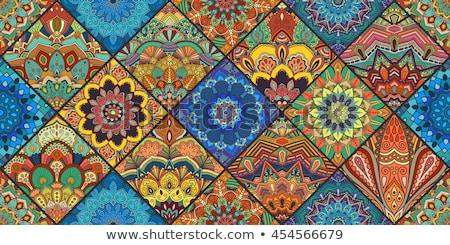 Mandala patrones amarillo ilustración fondo retro Foto stock © bluering
