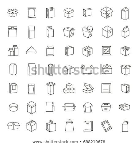 白 · 黒 · 紙袋 · パッケージ · 実例 · 孤立した - ストックフォト © pikepicture