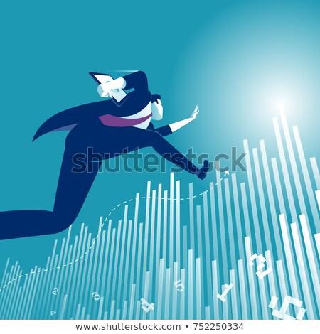 Nyereség növekedés vektor metafora adománygyűjtés üzletasszony Stock fotó © RAStudio