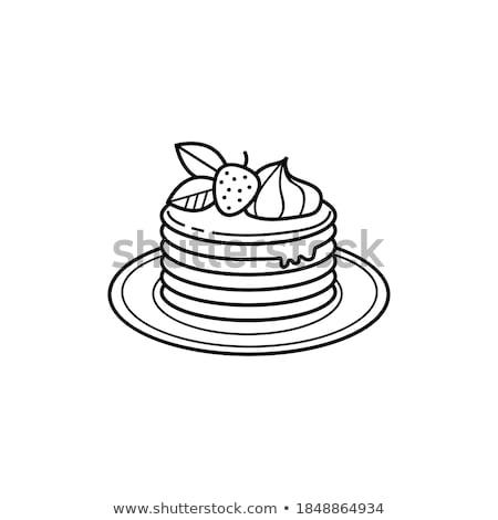 Vector pannenkoek geïsoleerd witte Stockfoto © freesoulproduction