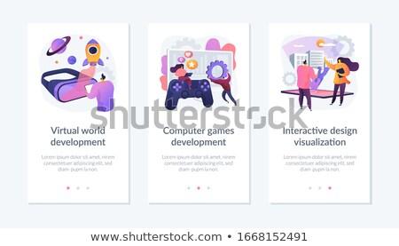 Developing game vector concept metaphor Stock photo © RAStudio