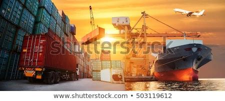 International business logistyka transport światowy wektora Pokaż Zdjęcia stock © robuart