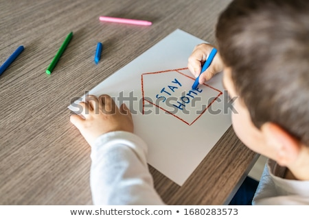 stay home and coronavirus protection concept background stock photo © sarts