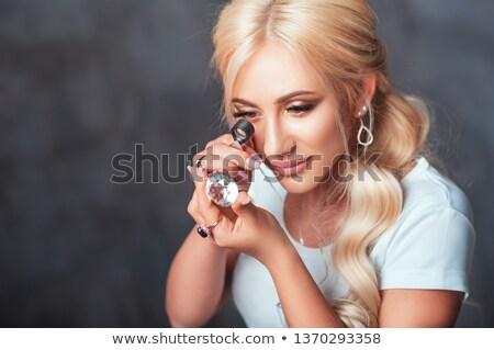 Jeweler Inspecting And Checking Diamond  Stock photo © AndreyPopov
