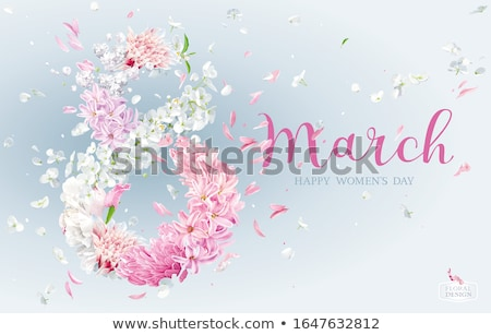Lilac and Pink Hyacinth, Chrysanthemums and Apple blossom for  8 Stock photo © LisaShu