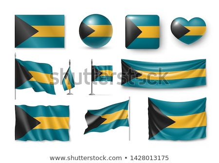 National flag of the Bahamas in the shape of a heart and the inscription I love Bahamas. Vector illu Stock photo © butenkow
