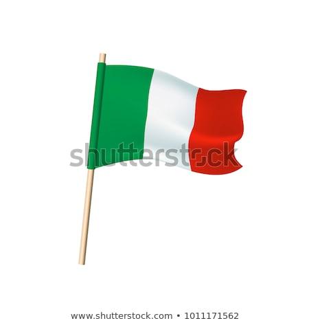 Italia bandiera bianco sfondo segno onda Foto d'archivio © butenkow