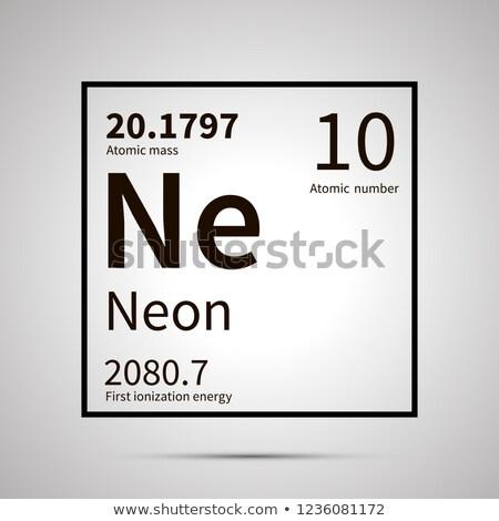 Néon chimiques élément première énergie atomique Photo stock © evgeny89