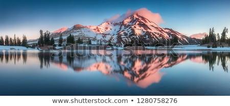 Centralny Oregon kaskada panorama góry szary Zdjęcia stock © pancaketom