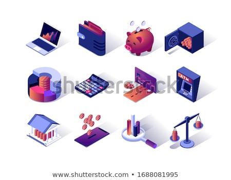 Finansowych rachunkowości izometryczny wektora kolekcja Zdjęcia stock © pikepicture