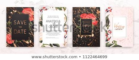 çiçekler stil düğün davetiyesi şablon dizayn düğün Stok fotoğraf © SArts