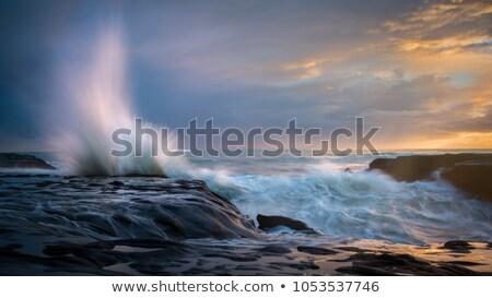 Apus pictura vest coastă nori natură Imagine de stoc © photoblueice