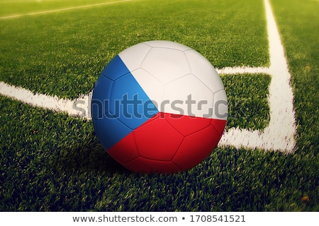 Tcheco futebol grama bandeira céu Foto stock © Saphira