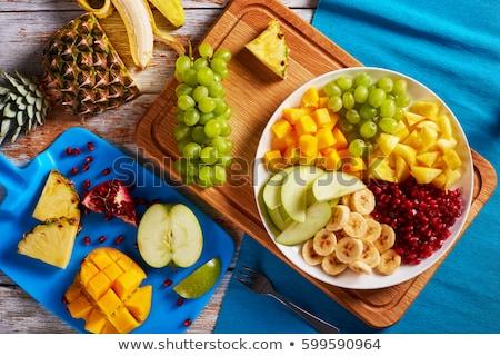 新鮮な マンゴー フルーツ 皿 トロピカルフルーツ ストックフォト © Ansonstock