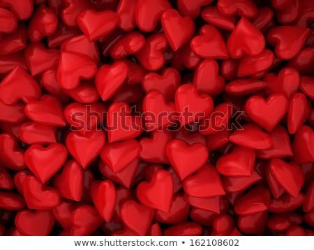 Vermelho corações fofo Foto stock © borna_mir