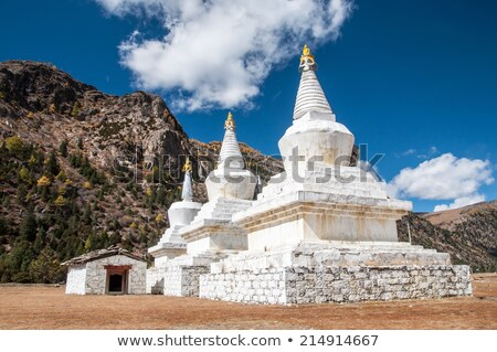 White pagoda in the temple Stock photo © Archipoch
