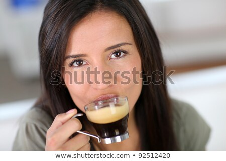 Woman drinking an expresso Stock photo © photography33