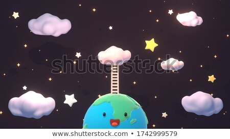 planet earth on top of the stairs Stock photo © rufous