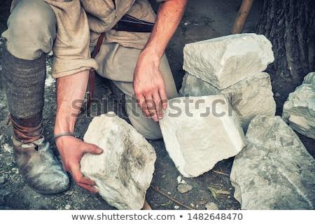 Artesão pedra construção parede campo Foto stock © photography33