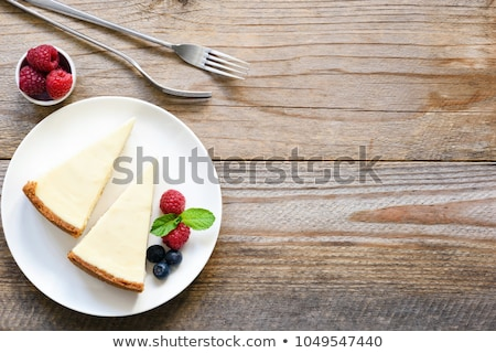 Sernik widelec kawałek wiśniowe owoców Zdjęcia stock © stevemc