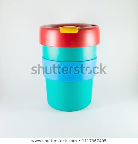 薄緑 プラスチック カップ 白 孤立した パス ストックフォト © nuttakit