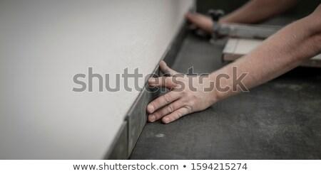 craftsman holding floor tiles Stock photo © photography33