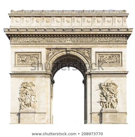 Boog triomf detail Parijs Frankrijk Stockfoto © Stocksnapper